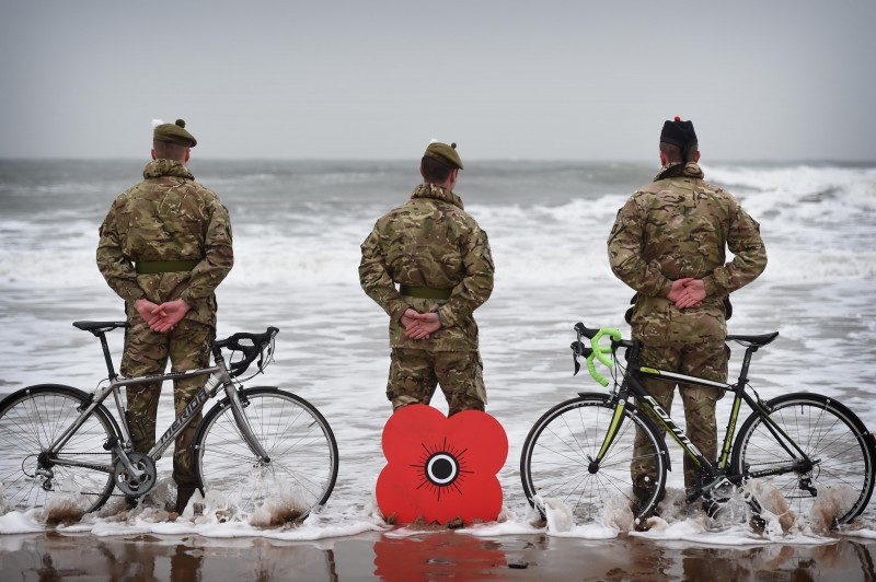 Soldiers Get On Their Bikes To Launch Poppyscotland Sportive