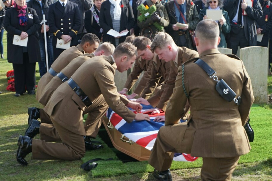 World War One Soldier Finally Given Military Burial