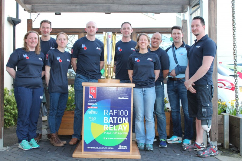 Triathlon Team Conquer 106 Miles With RAF100 Baton
