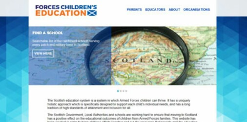 Website Launched For Service Families In Scotland