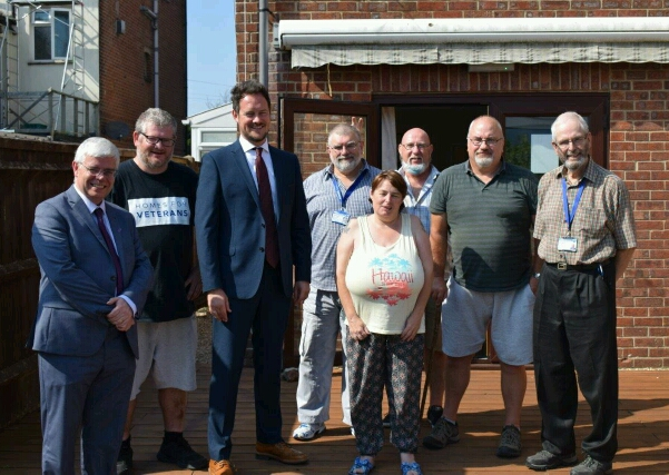MP Visits Hampshire Homes For Veterans