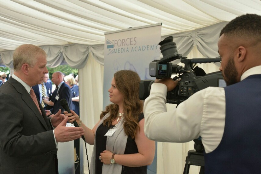 Duke Of York Congratulates First Forces Media Academy Graduates