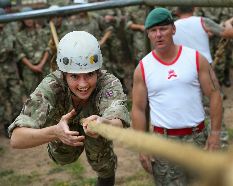 Royal Marines Train Young Lionesses For World Cup
