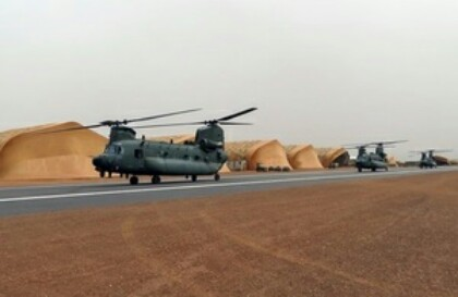 RAF Helicopters On Mission In Mali