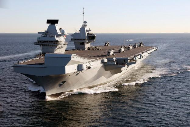 HMS Queen Elizabeth Sets Off For F-35B Trials