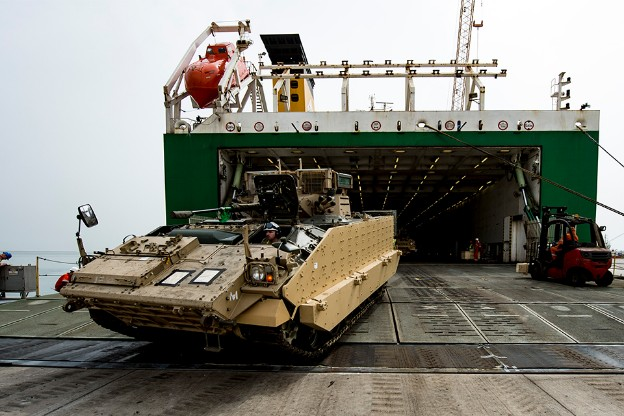 Exercise Saif Sareea 3: Armoured Vehicles Arrive In Oman