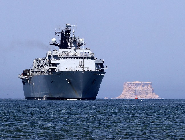 HMS Albion To The Fore In Oman