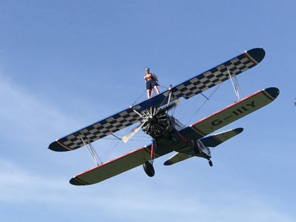Strapped To A Biplane…For Charity