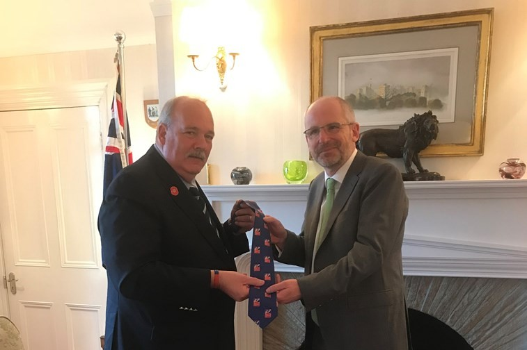 Blind Veteran Returns To Falklands After 36 Years
