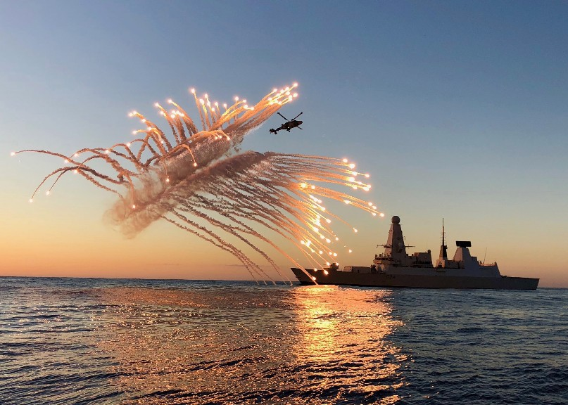 HMS Diamond Safeguarding The Mediterranean