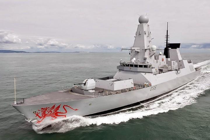 HMS Dragon In Lebanon
