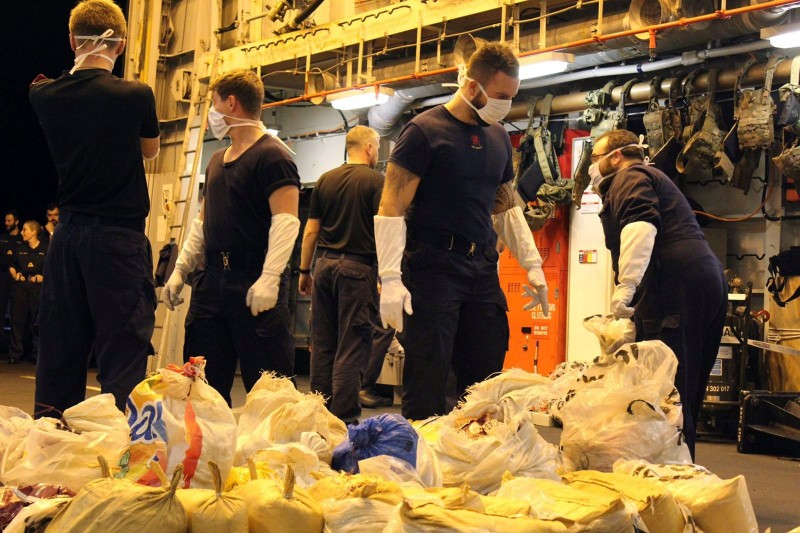HMS Dragon In Another Gulf Narcotics Haul