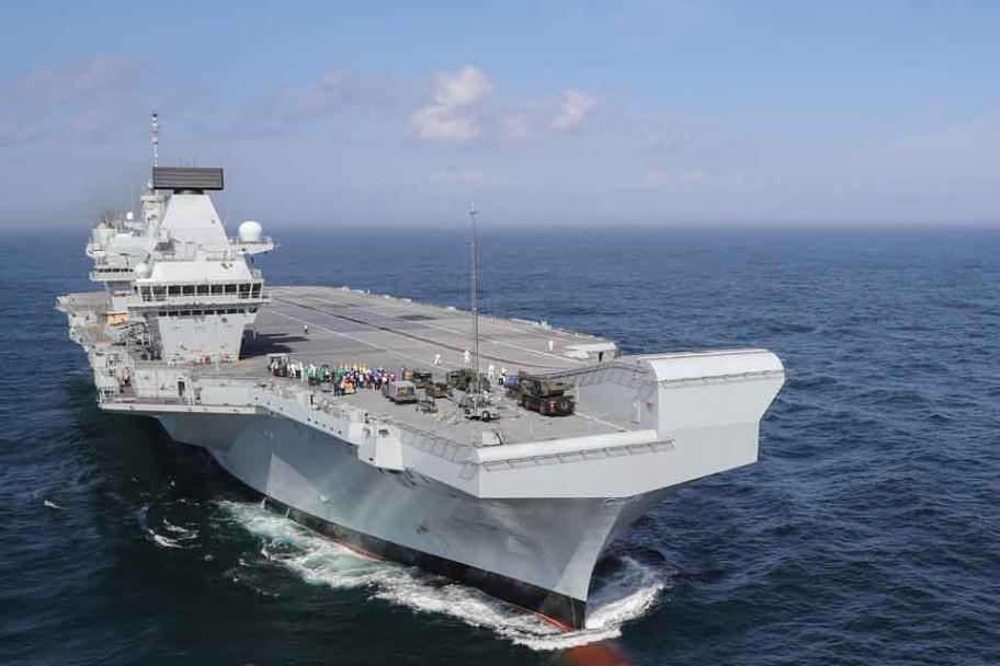 HMS Queen Elizabeth Heading Back To Sea