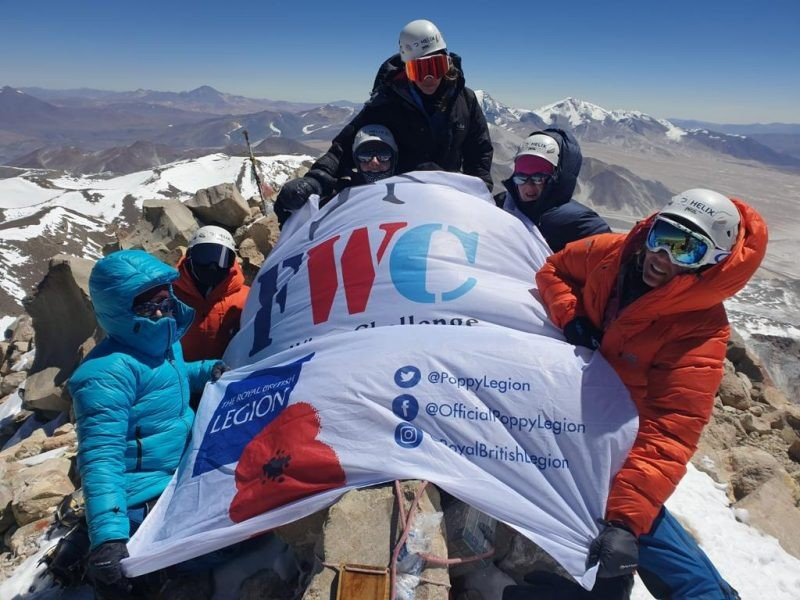 Military Wives Summit World's Highest Volcano