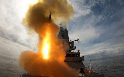 HMS Defender Demonstrates Her Power