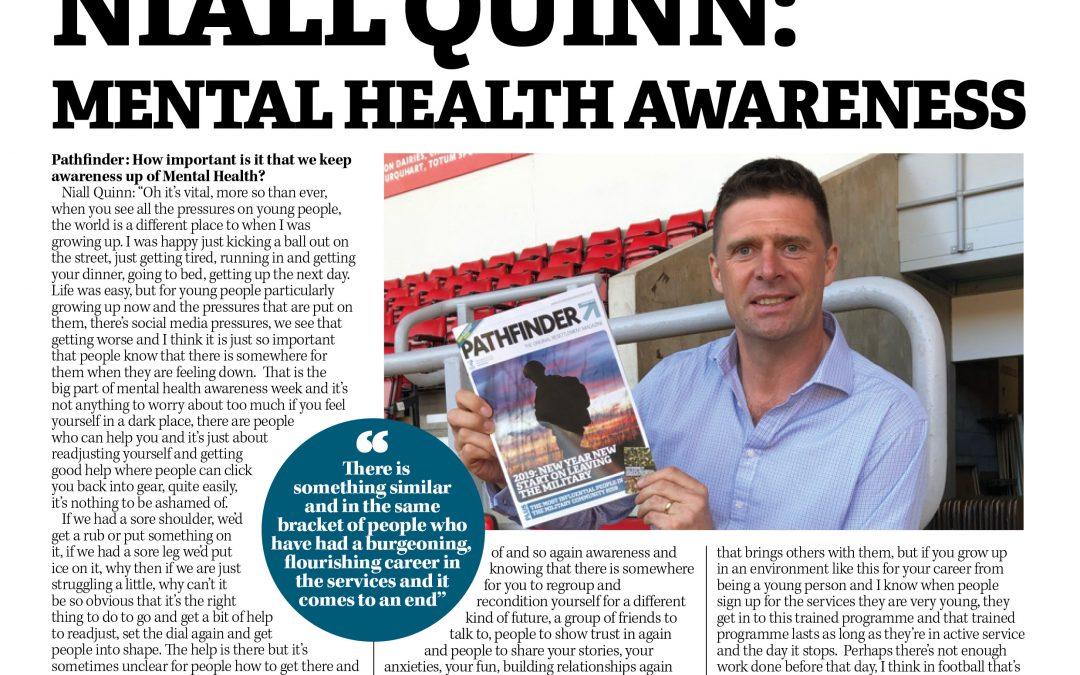 Former Footballer Niall Quinn Backs Mental Health Awareness For Veterans And Athletes