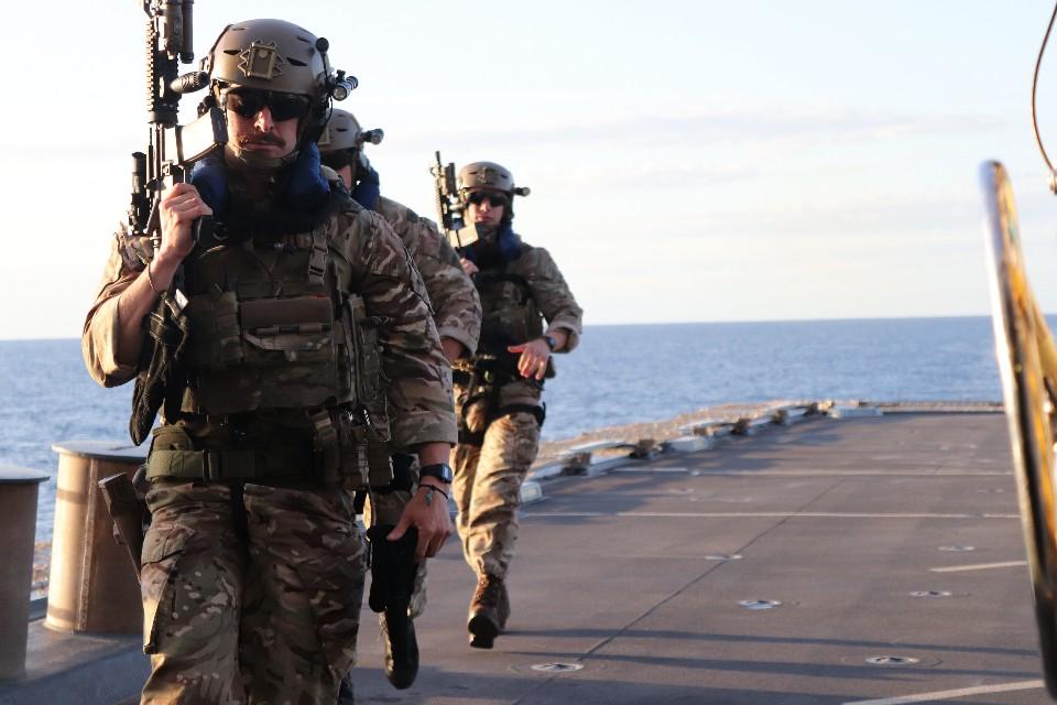 RN Warship Preventing Human Trafficking