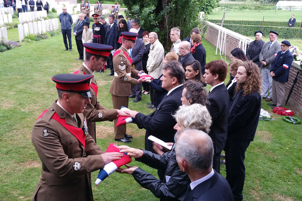 A Century On – Families Attend Funeral