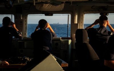 Frigate Monitors Chinese In Channel