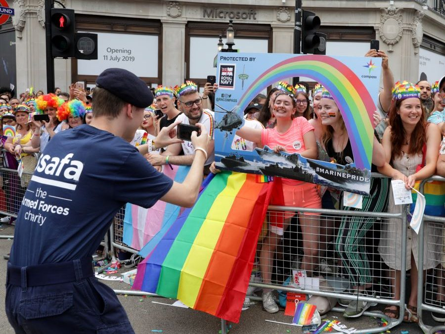 Navy & Marines Show Their Pride In London