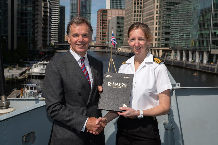 SSAFA Presents HMS Westminster With Commemorative D-Day Book
