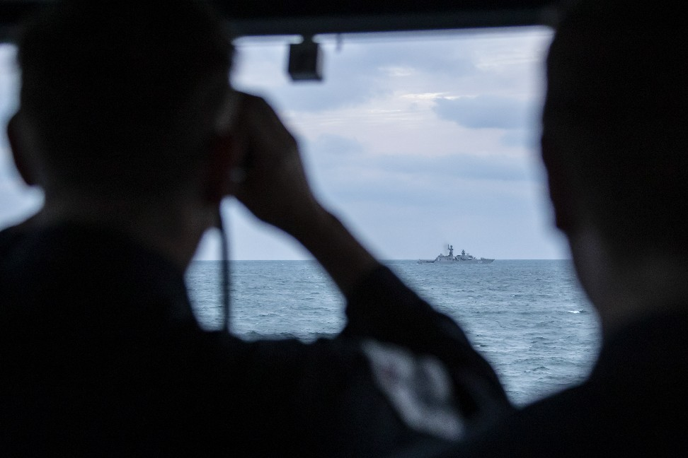 Royal Navy Keeps Watch On Russian Task Group