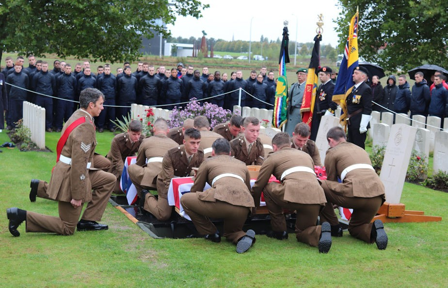 Burial Service Held On The Western Front