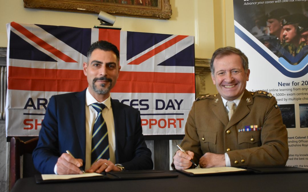 Institute of Risk Management (IRM) Pledges Commitment to the Armed Forces Community by signing the Armed Forces Covenant