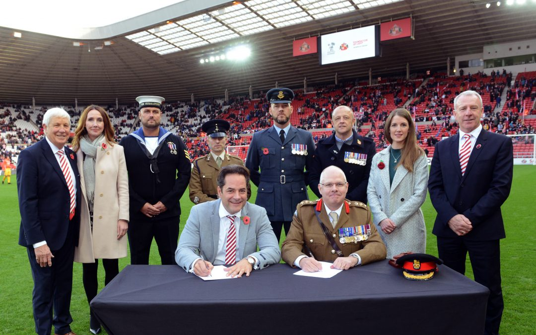 Pathfinder Assist With Sunderland AFC & Foundation Of Light In Signing The Armed Forces Covenant