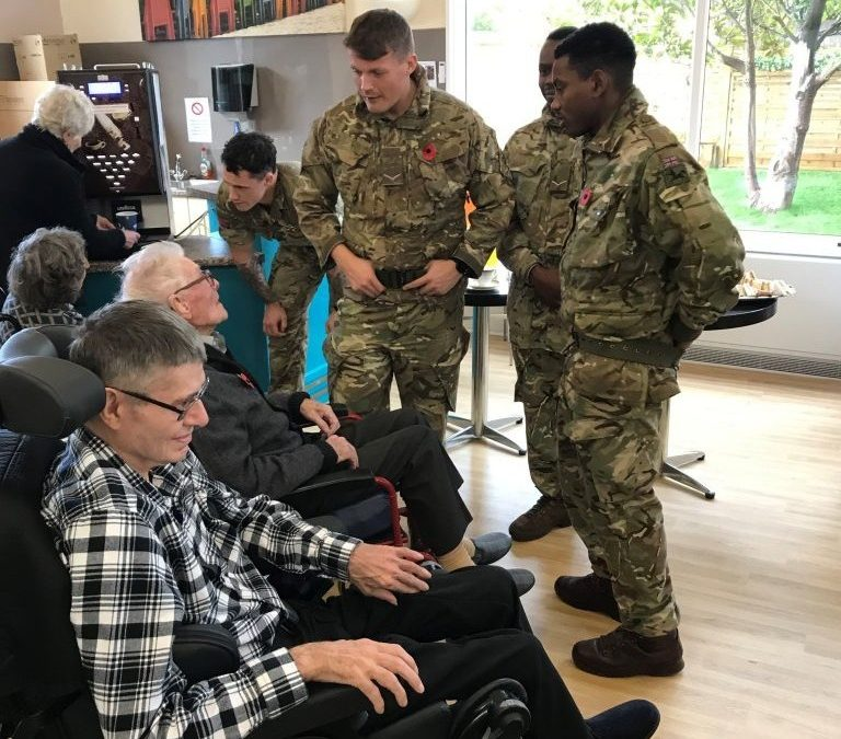 Serving Soldiers Visit Veterans