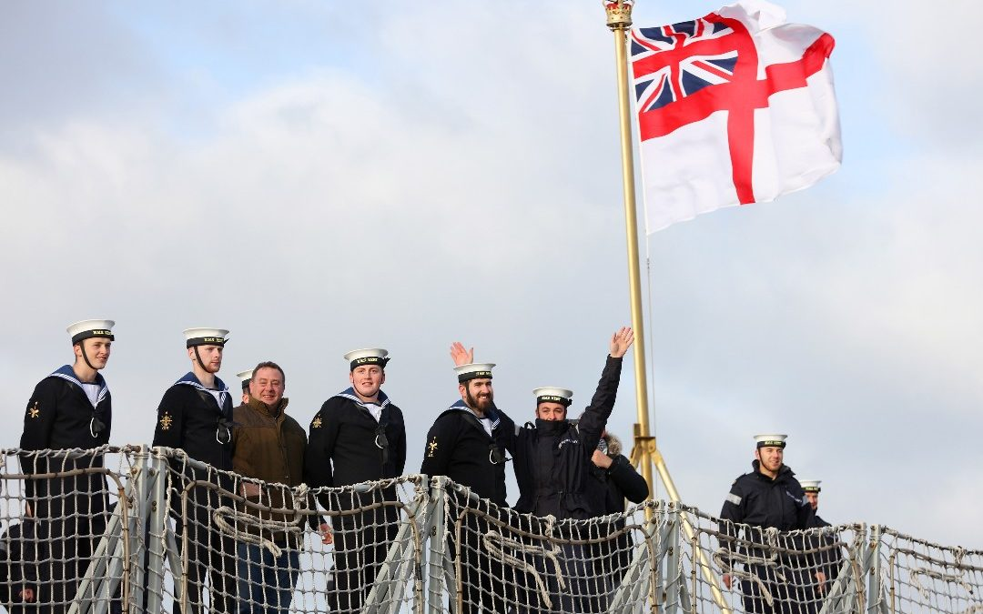 Christmas Cheer As Frigate Returns