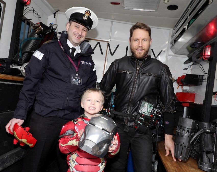 Petty Officer's Son Meets 'Iron Man'