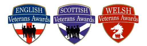 New Dates For Welsh, Scottish & English Veterans Awards