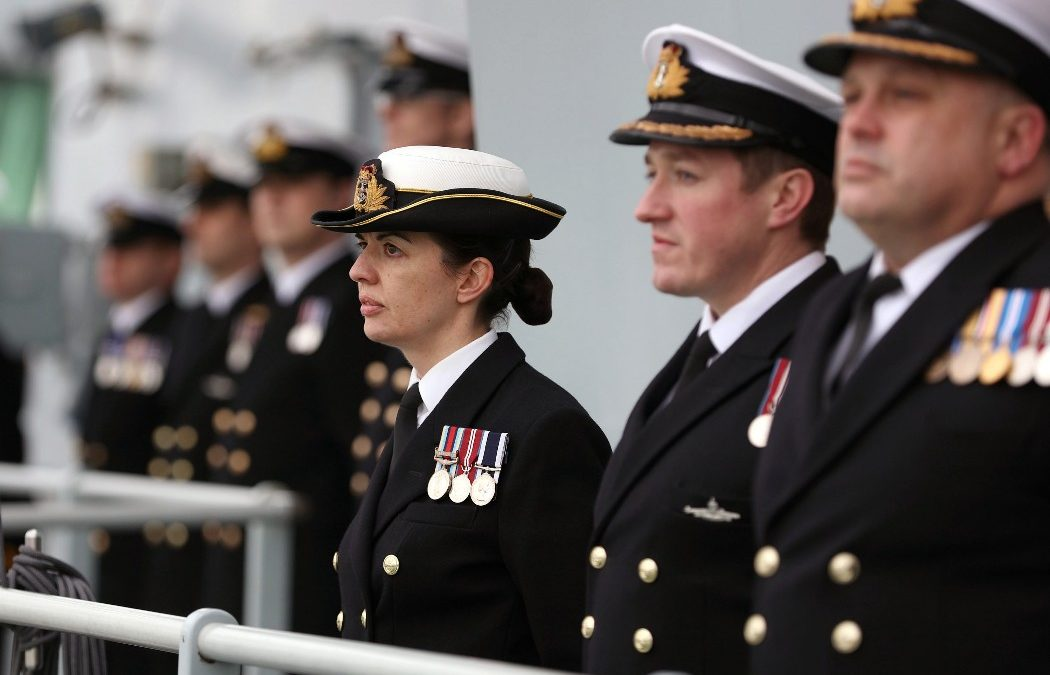 HMS Prince Of Wales Makes Portsmouth Debut