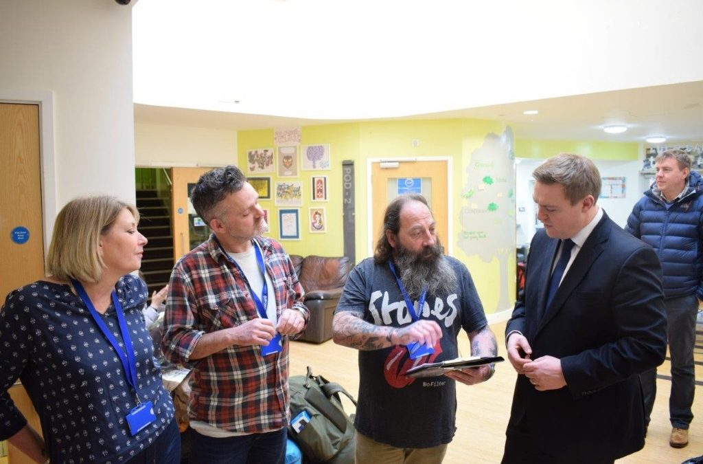 Welfare Minister Visits Homeless Veterans Project