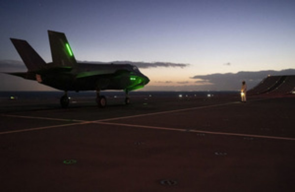 HMS Queen Elizabeth Night Flights