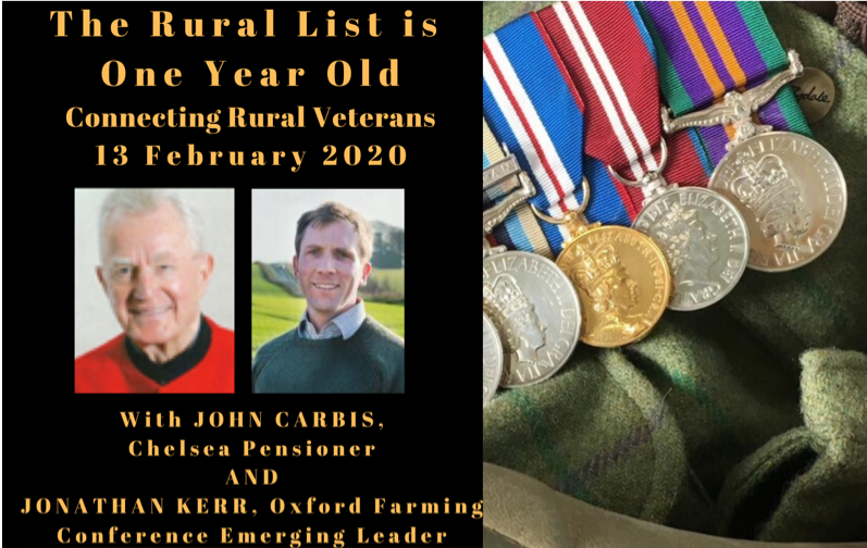 The Rural List – Connecting Rural Veterans – 13 February 2020