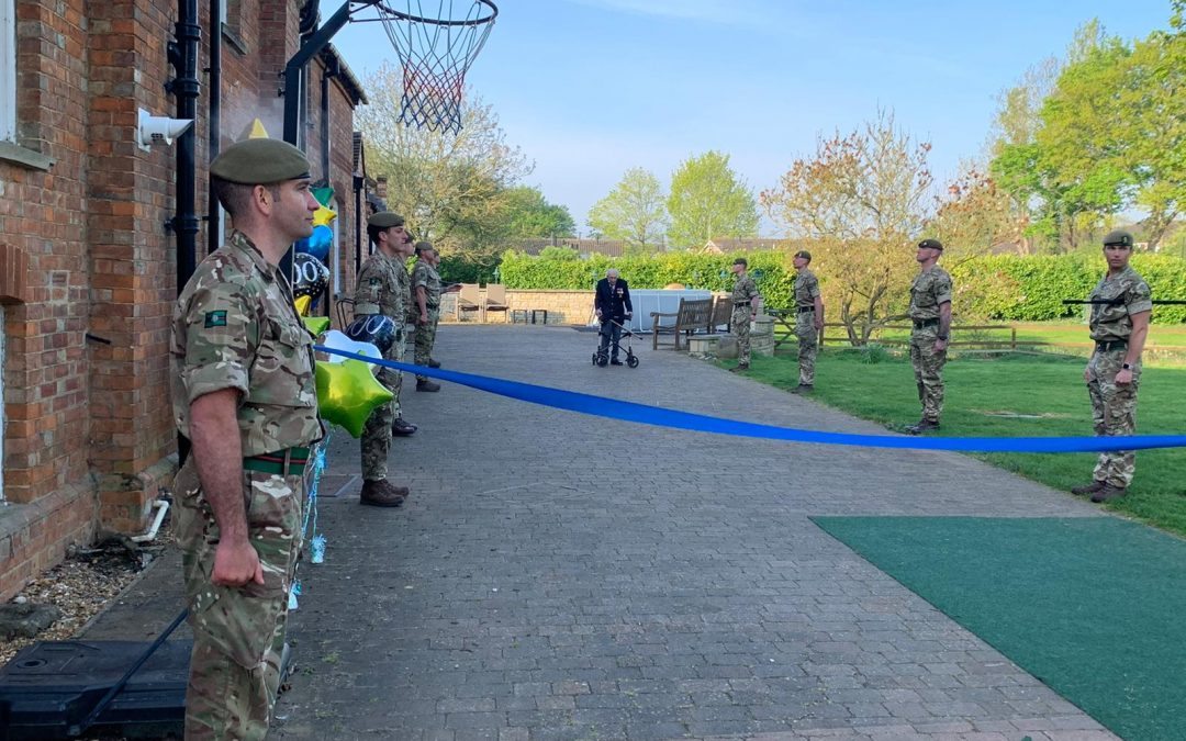 Troops Form Guard Of Honour As Captain Tom Moore Completes His £13M Walk