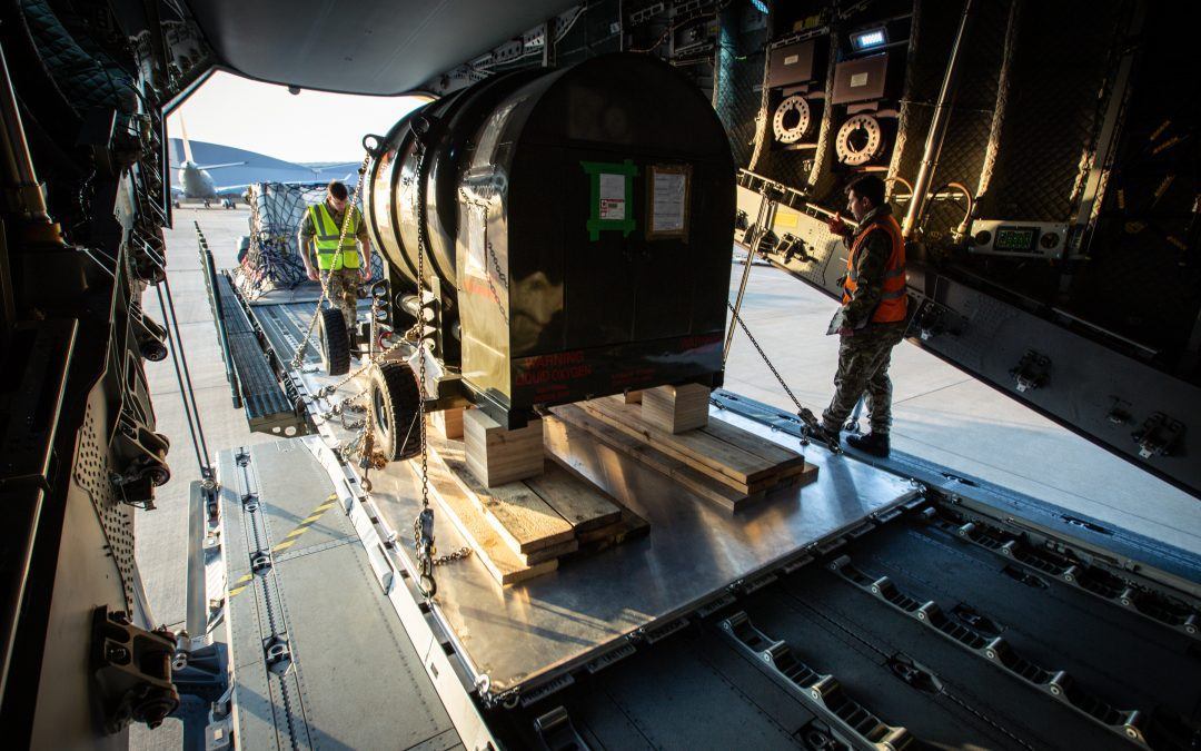 UK Armed Forces Deliver Essential Equipment To The Falkland Islands