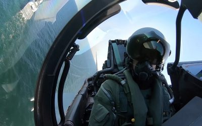 Royal Air Force Typhoons Train With NATO Warships In The Baltic Region