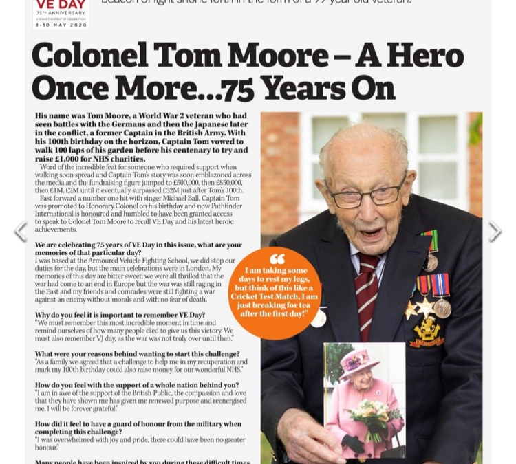 Tomorrow Will Be A Good Day – The Pathfinder Exclusive Interview With Colonel Tom Moore Ahead Of VE Day 75
