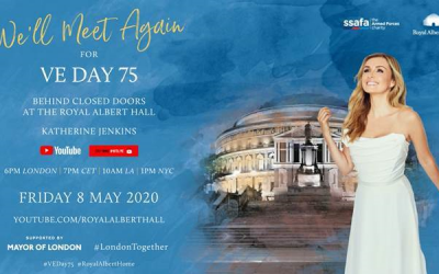 """We'll Meet Again Some Sunny Day"" – Katherine Jenkins OBE Performs At The Royal Albert Hall, Bringing The Country Together for VE Day 75"