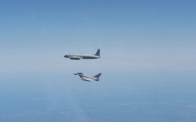 RAF Typhoons Scrambled In Lithunaia To Intercept A Russian Intelligence Gathering Aircraft