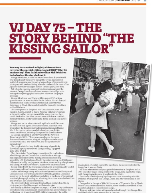 "VJ Day 75 – The Story Behind ""The Kissing Sailor"""