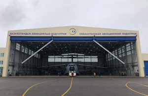 Royal Air Force A400M Showcased In Kazakhstan