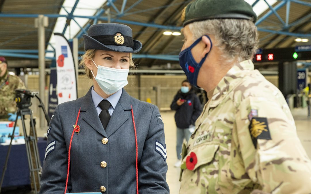 Armed Forces Personnel Support London Poppy Day