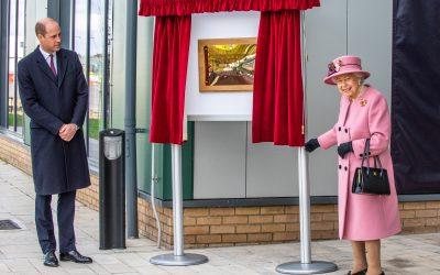 The Queen, Accompanied By The Duke Of Cambridge, Opens Dstl's New Counter-Terrorism Facility