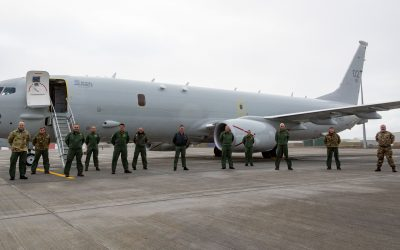 Poseidon Aircraft Arrives At RAF Lossiemouth For The First Time
