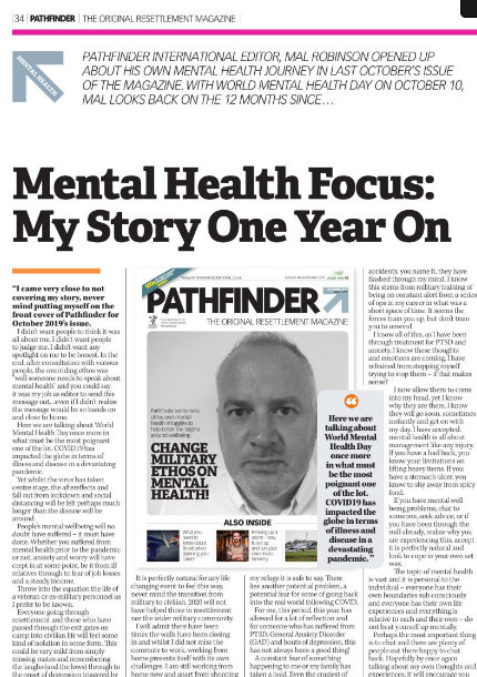 World Mental Health Day 2020: Pathfinder Editor Mal Robinson – My Story One Year On