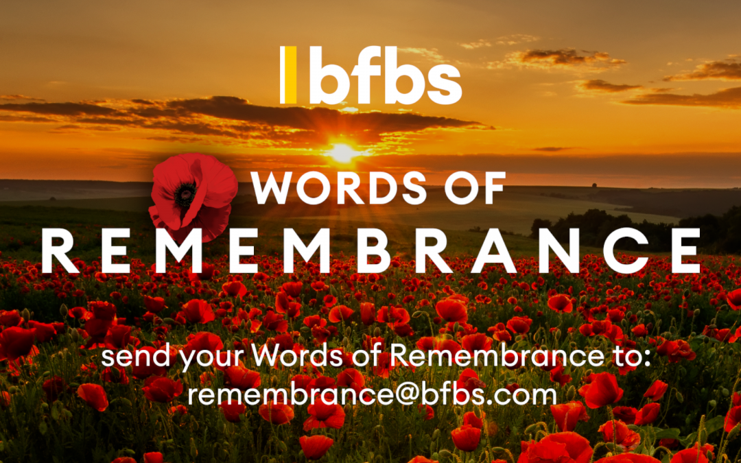 BFBS Invites The Military Community To Participate In Its Virtual Act Of Remembrance